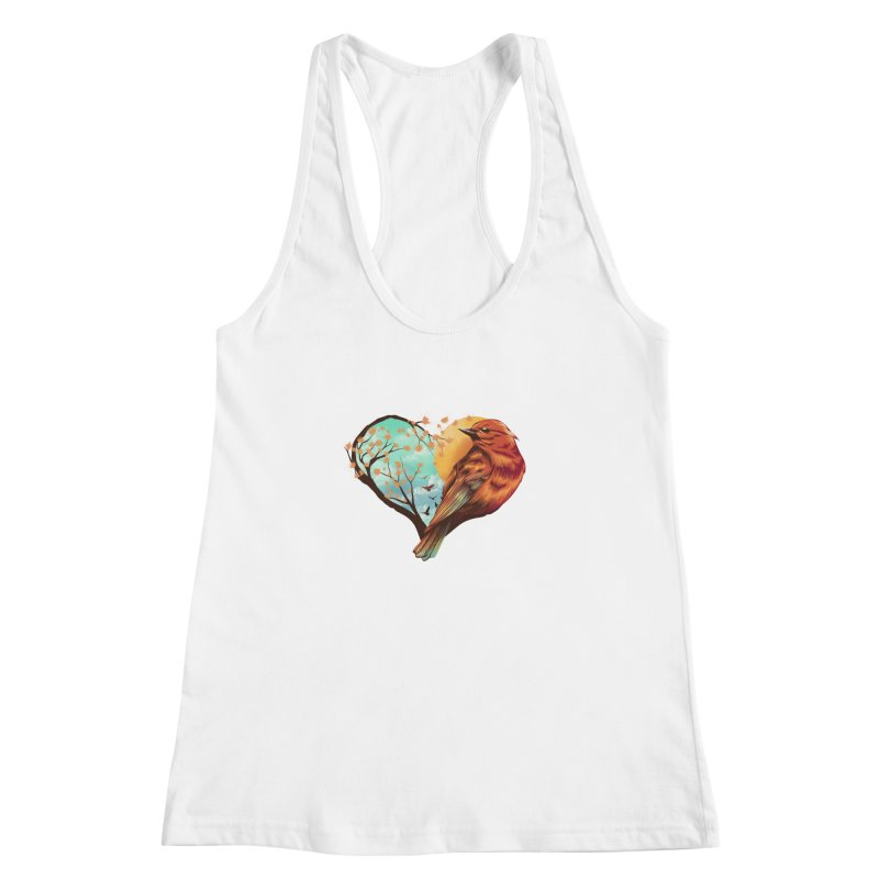 Love Bird Women's Racerback Tank by dandingeroz's Artist Shop