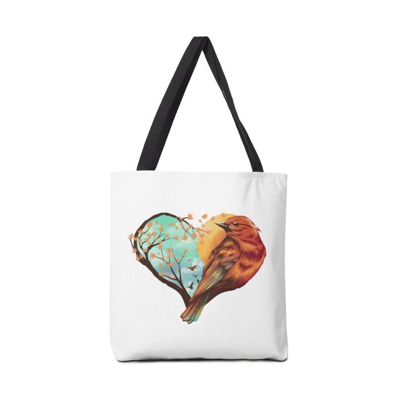 Love Bird Accessories Bag by dandingeroz's Artist Shop
