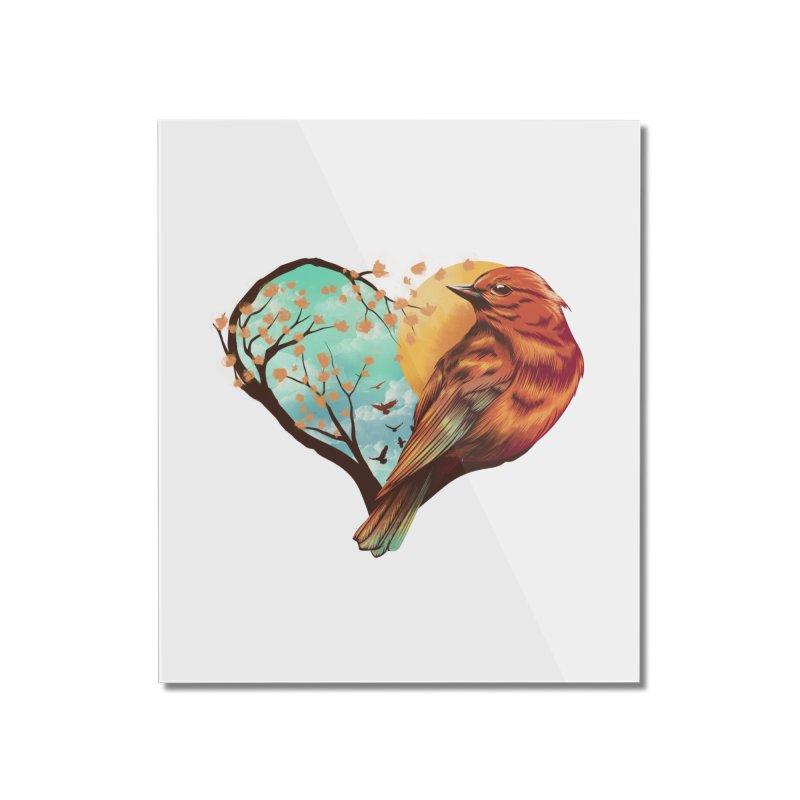 Love Bird Home Mounted Acrylic Print by dandingeroz's Artist Shop
