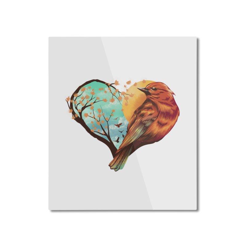 Love Bird Home Mounted Aluminum Print by dandingeroz's Artist Shop