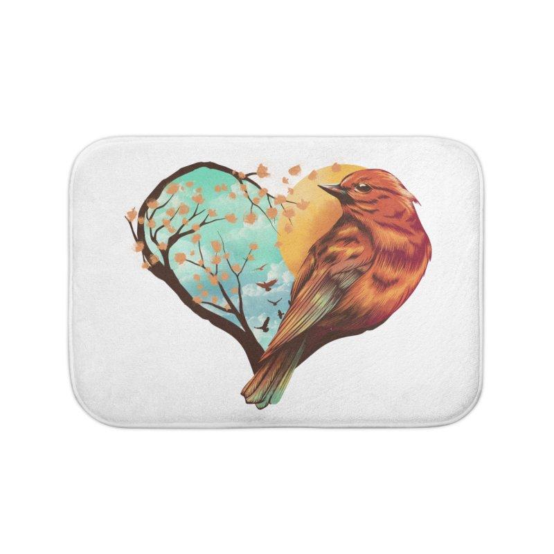 Love Bird Home Bath Mat by dandingeroz's Artist Shop