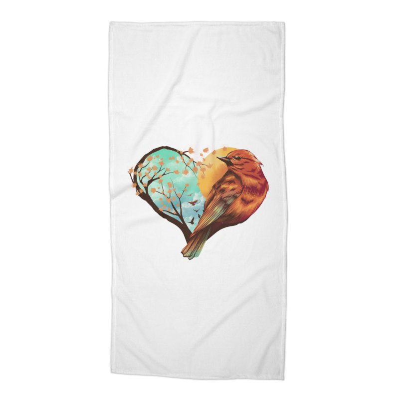 Love Bird Accessories Beach Towel by dandingeroz's Artist Shop