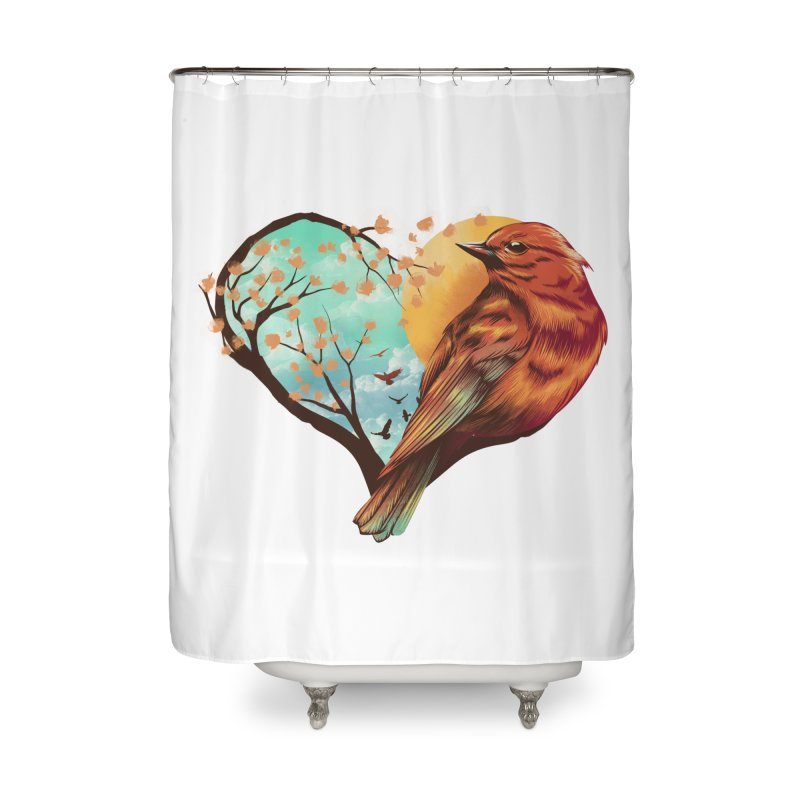 Love Bird Home Shower Curtain by dandingeroz's Artist Shop