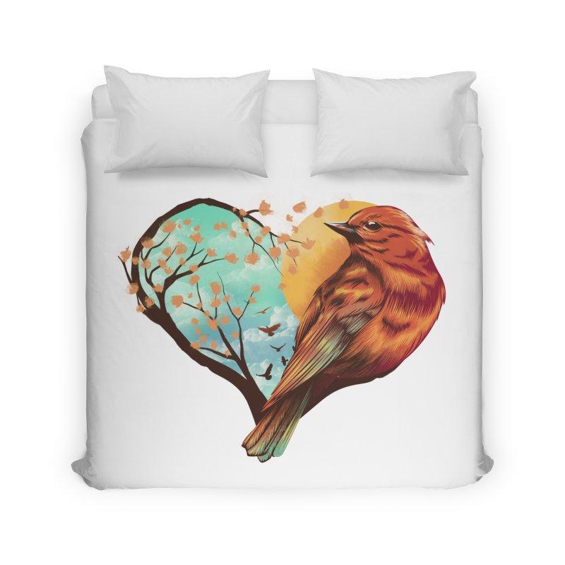 Love Bird Home Duvet by dandingeroz's Artist Shop