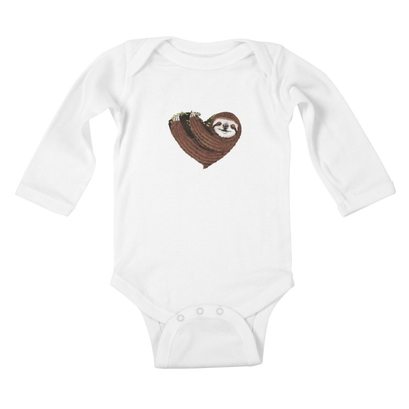 Love Mood Kids Baby Longsleeve Bodysuit by dandingeroz's Artist Shop