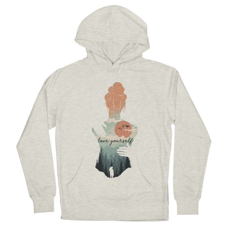 Love Yourself Men's French Terry Pullover Hoody by dandingeroz's Artist Shop