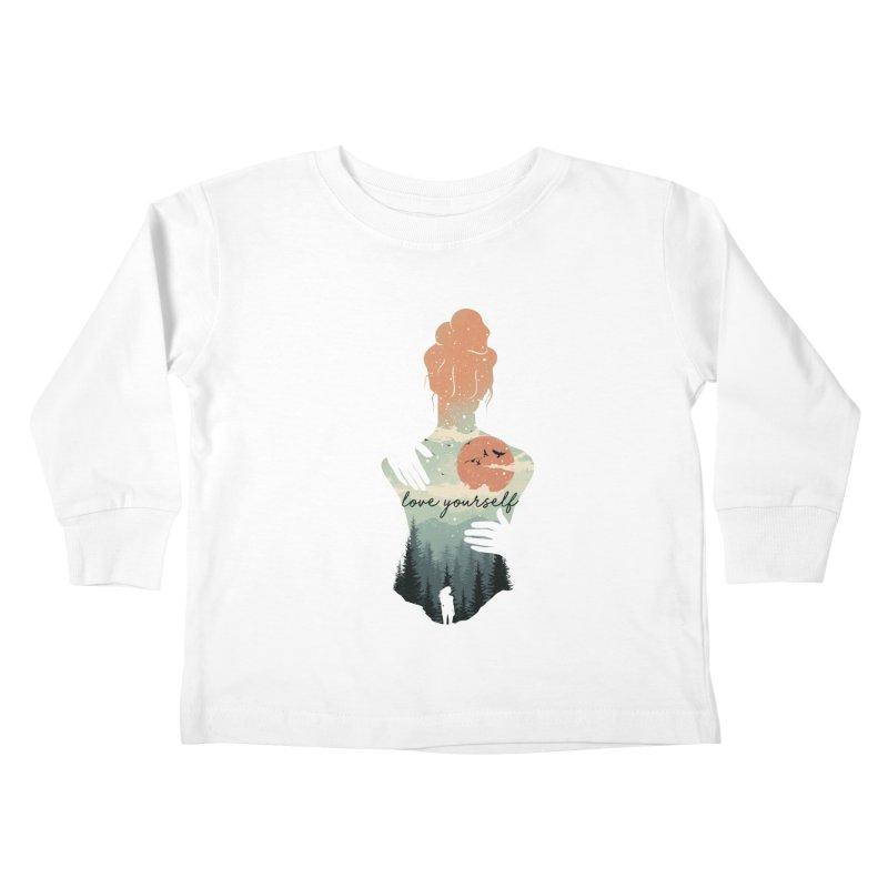 Love Yourself Kids Toddler Longsleeve T-Shirt by dandingeroz's Artist Shop