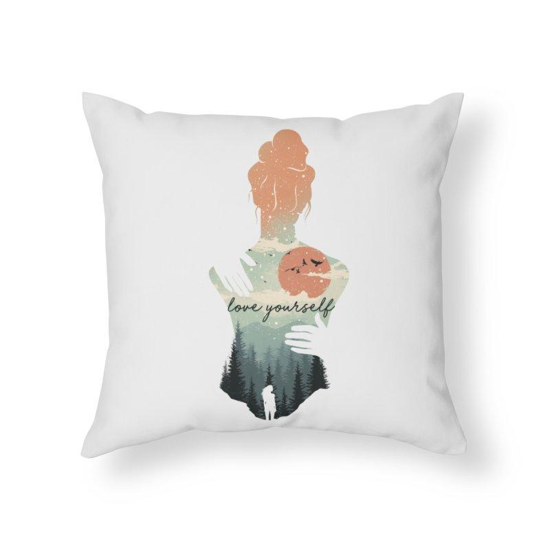 Love Yourself Home Throw Pillow by dandingeroz's Artist Shop