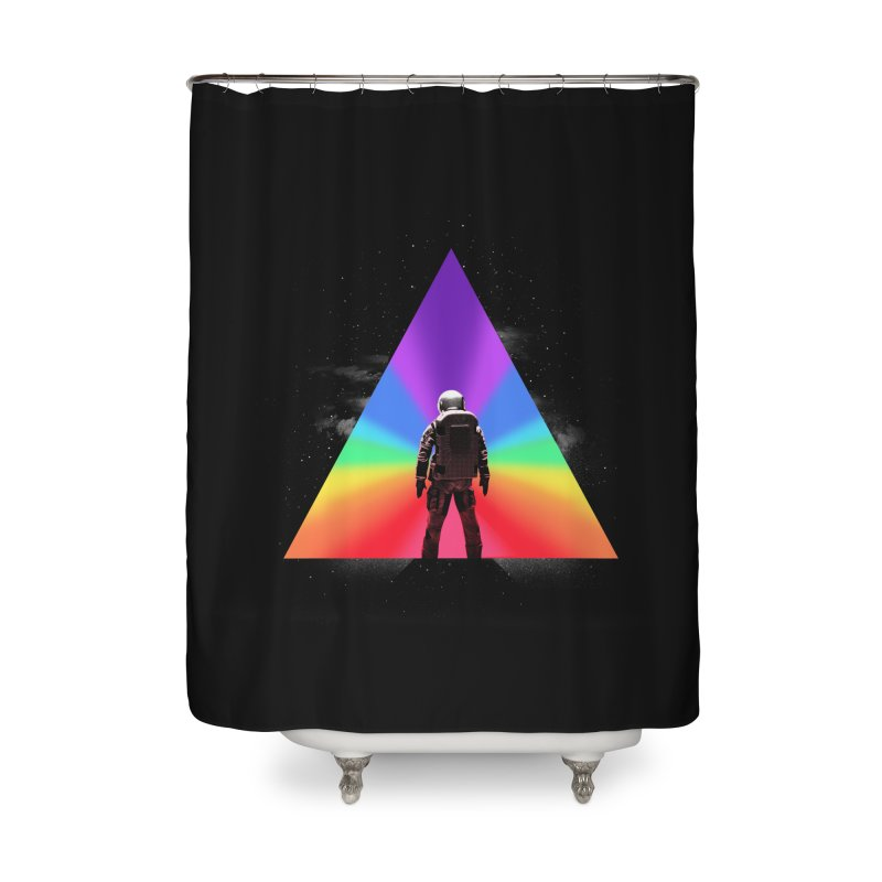 Cosmic Reality Home Shower Curtain by dandingeroz's Artist Shop