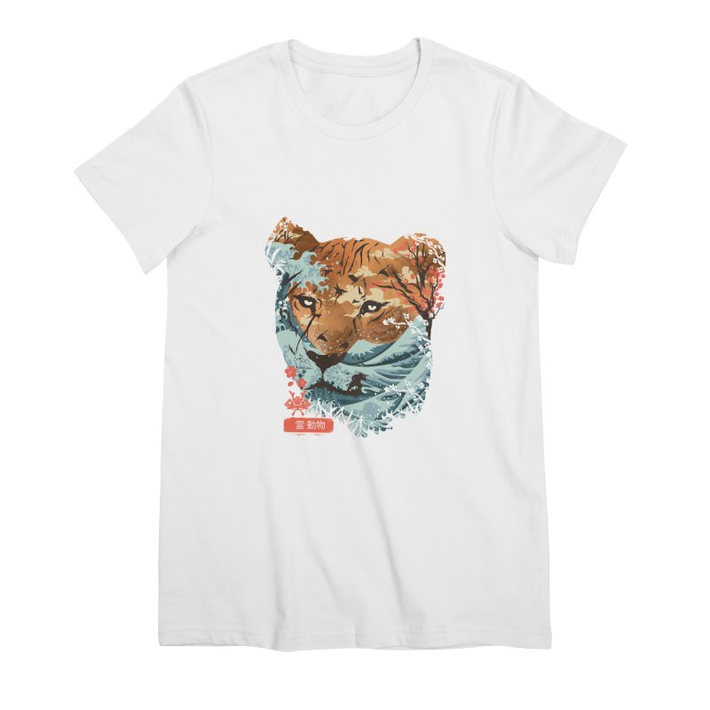 Spirit Animal Tiger Women's Premium T-Shirt by dandingeroz's Artist Shop