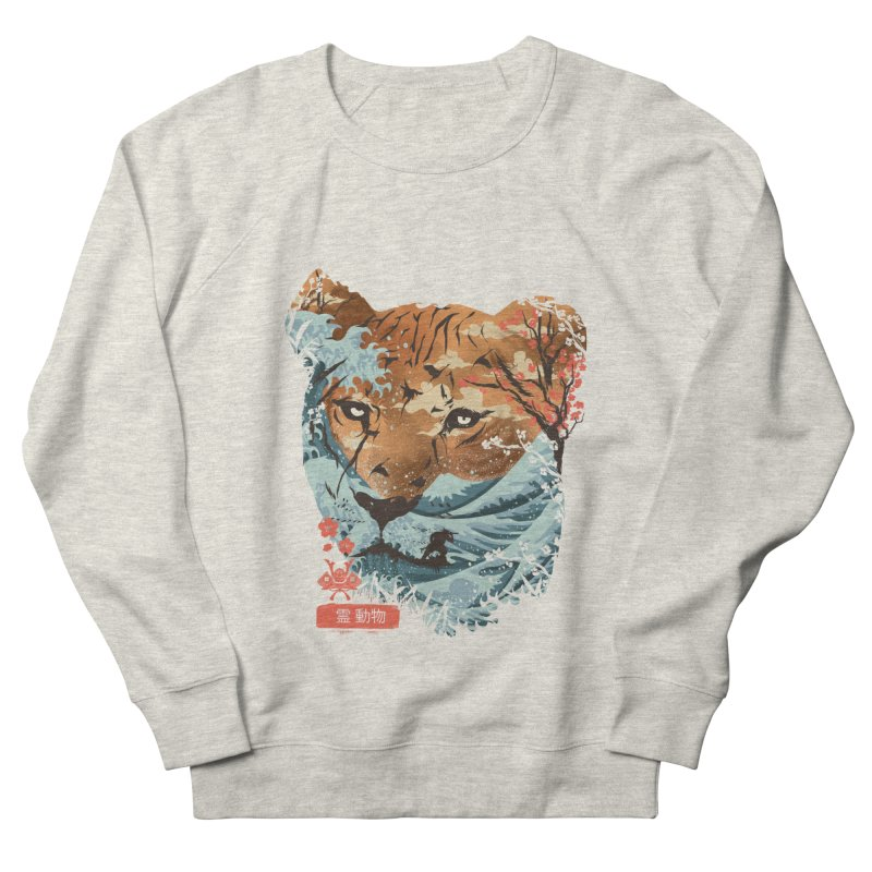 Spirit Animal Tiger Men's French Terry Sweatshirt by dandingeroz's Artist Shop