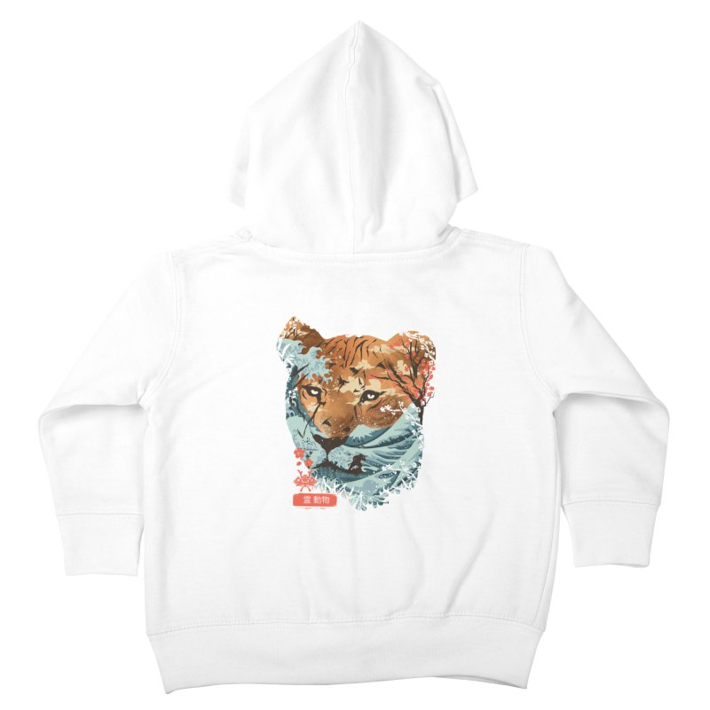 Spirit Animal Tiger Kids Toddler Zip-Up Hoody by dandingeroz's Artist Shop