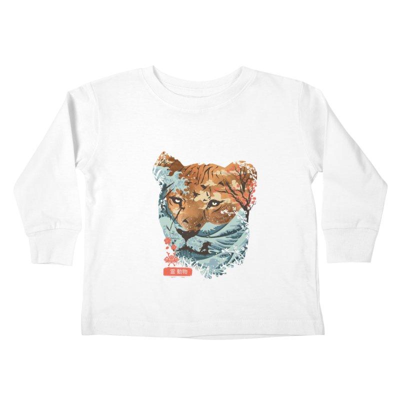 Spirit Animal Tiger Kids Toddler Longsleeve T-Shirt by dandingeroz's Artist Shop