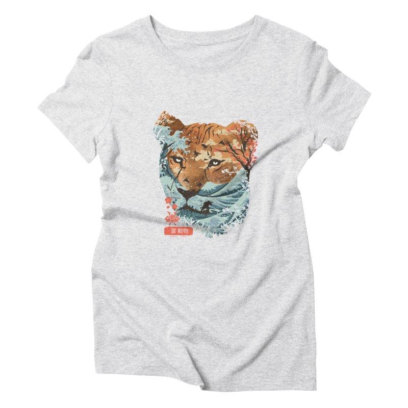 Spirit Animal Tiger Women's Triblend T-Shirt by dandingeroz's Artist Shop