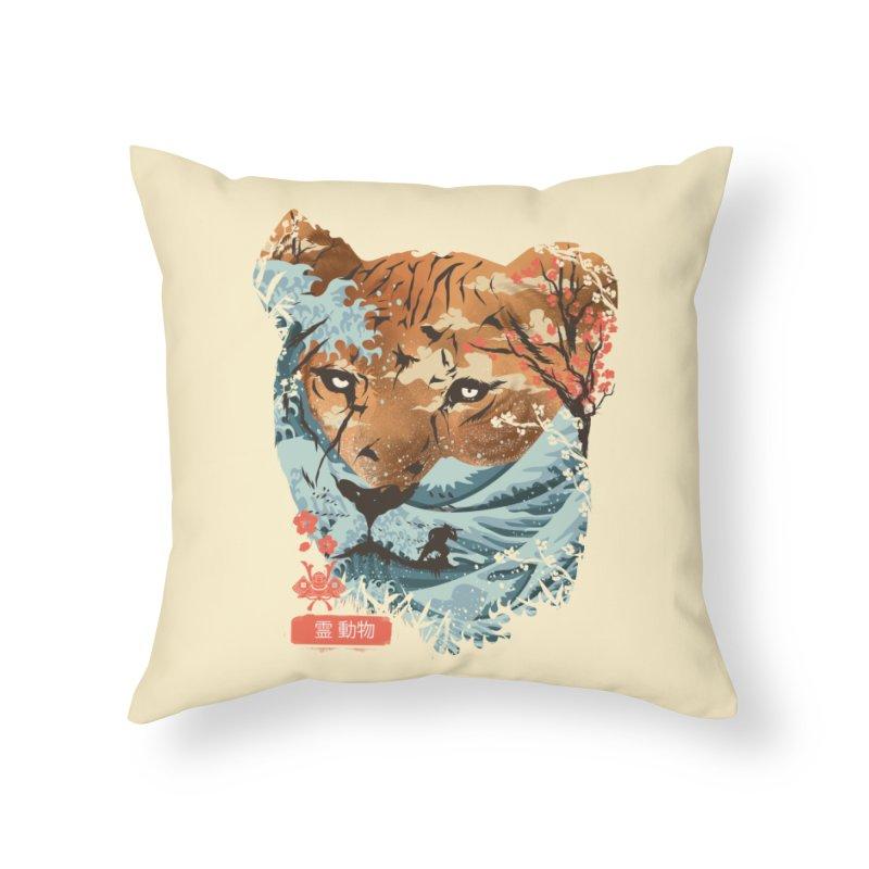 Spirit Animal Tiger Home Throw Pillow by dandingeroz's Artist Shop