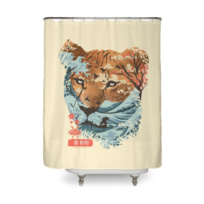 Spirit Animal Tiger Home Shower Curtain by dandingeroz's Artist Shop
