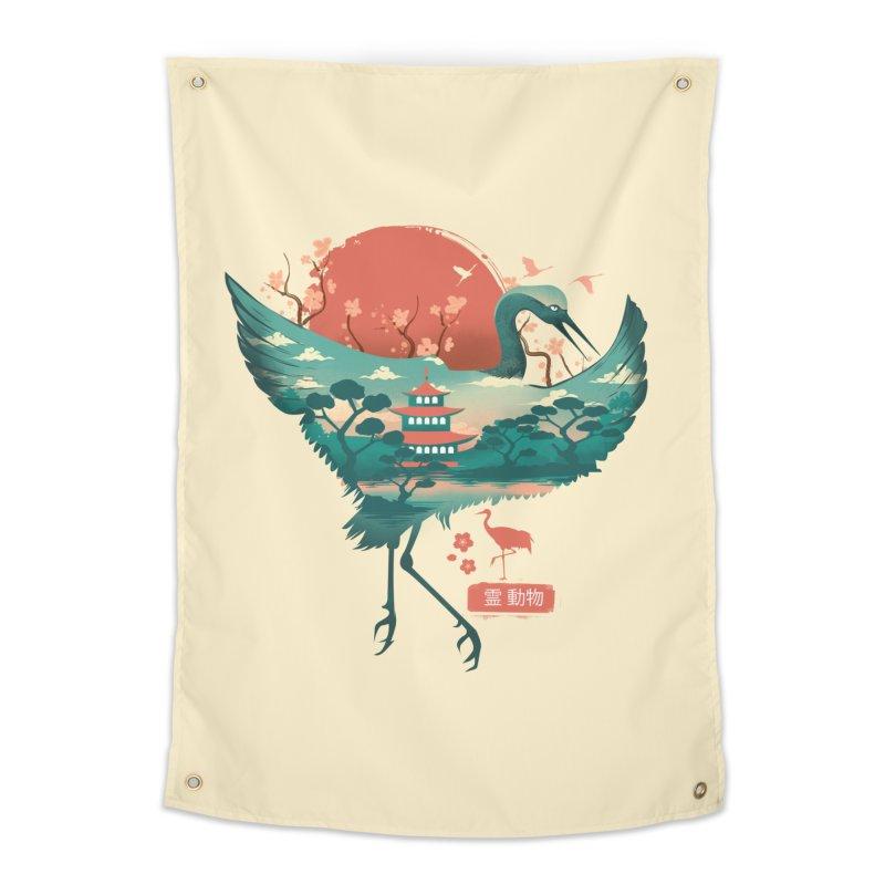 Spirit Animal Crane Home Tapestry by dandingeroz's Artist Shop