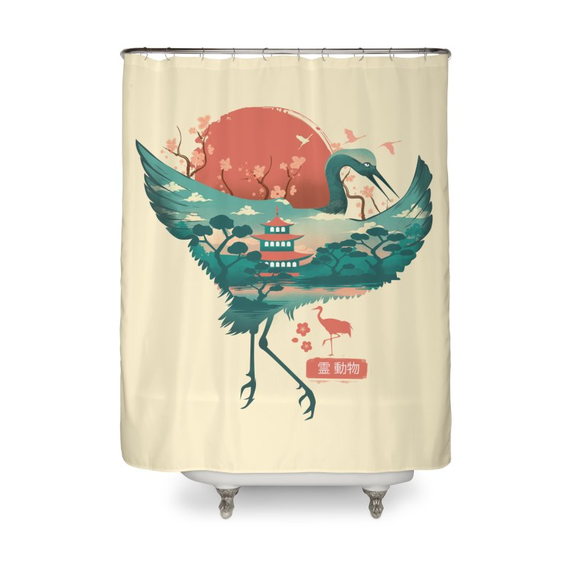 Spirit Animal Crane Home Shower Curtain by dandingeroz's Artist Shop