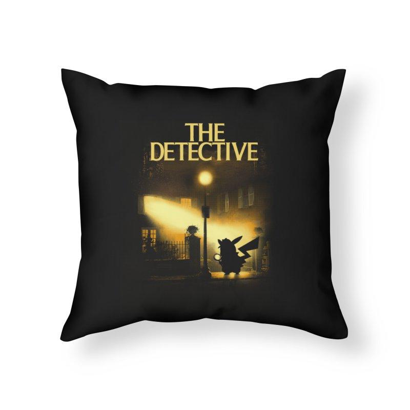 The Detective Home Throw Pillow by dandingeroz's Artist Shop