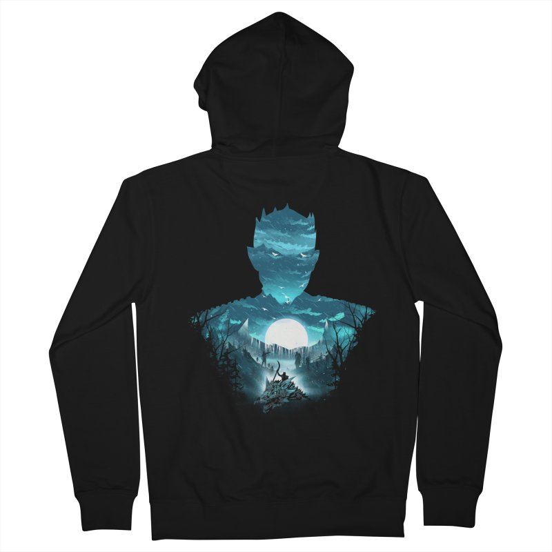 The Night King Men's French Terry Zip-Up Hoody by dandingeroz's Artist Shop
