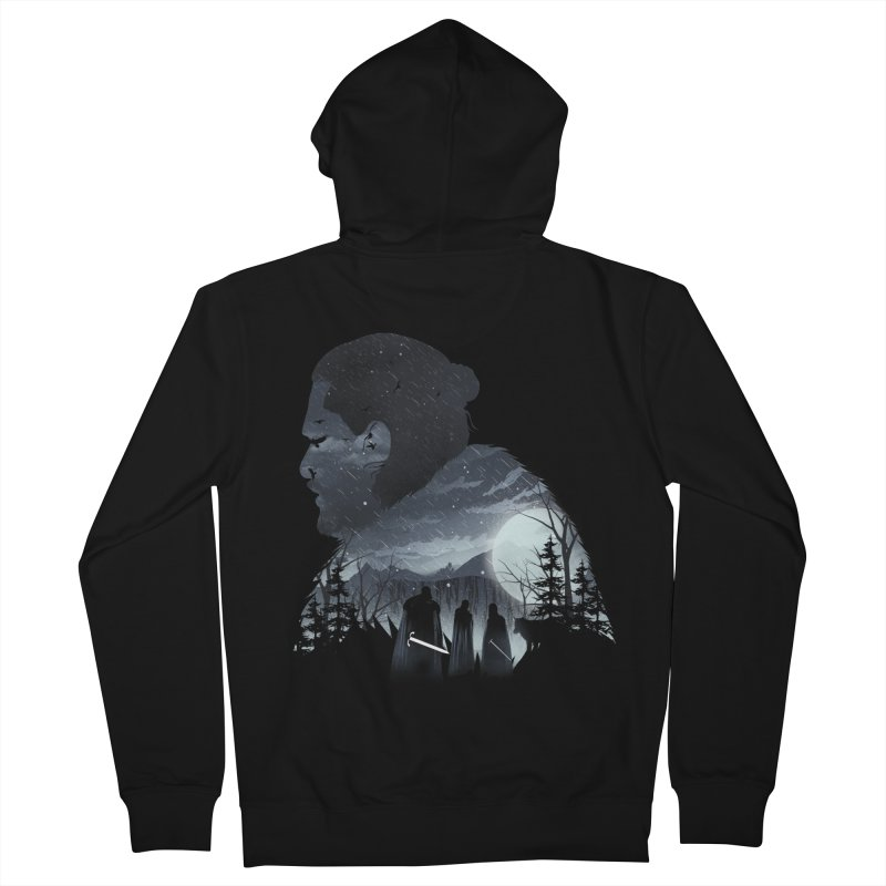 The King in the North Men's French Terry Zip-Up Hoody by dandingeroz's Artist Shop