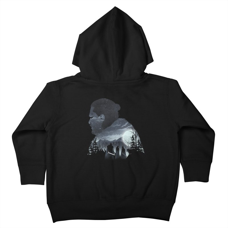 The King in the North Kids Toddler Zip-Up Hoody by dandingeroz's Artist Shop