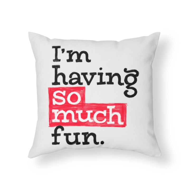 What A Blast Home Throw Pillow by dandrawnthreads