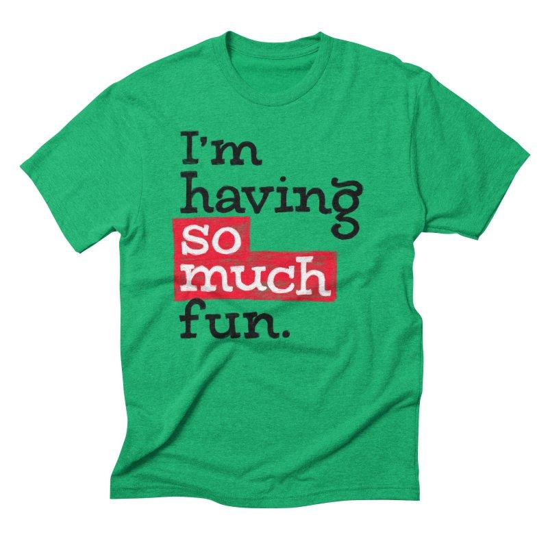 What A Blast Men's Triblend T-Shirt by dandrawnthreads