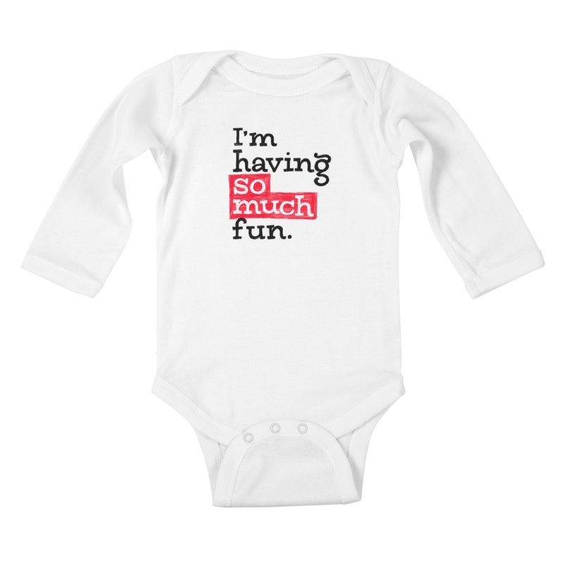 What A Blast Kids Baby Longsleeve Bodysuit by dandrawnthreads
