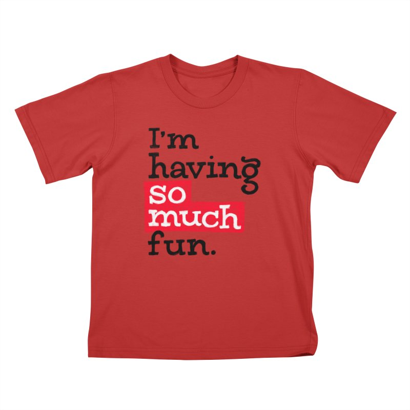 What A Blast Kids T-Shirt by dandrawnthreads