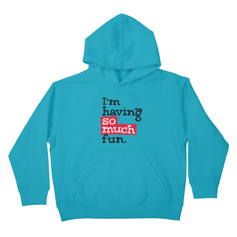 What A Blast Kids Pullover Hoody by dandrawnthreads