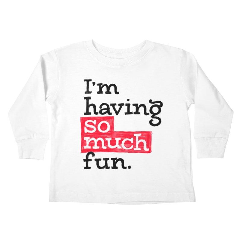 What A Blast Kids Toddler Longsleeve T-Shirt by dandrawnthreads