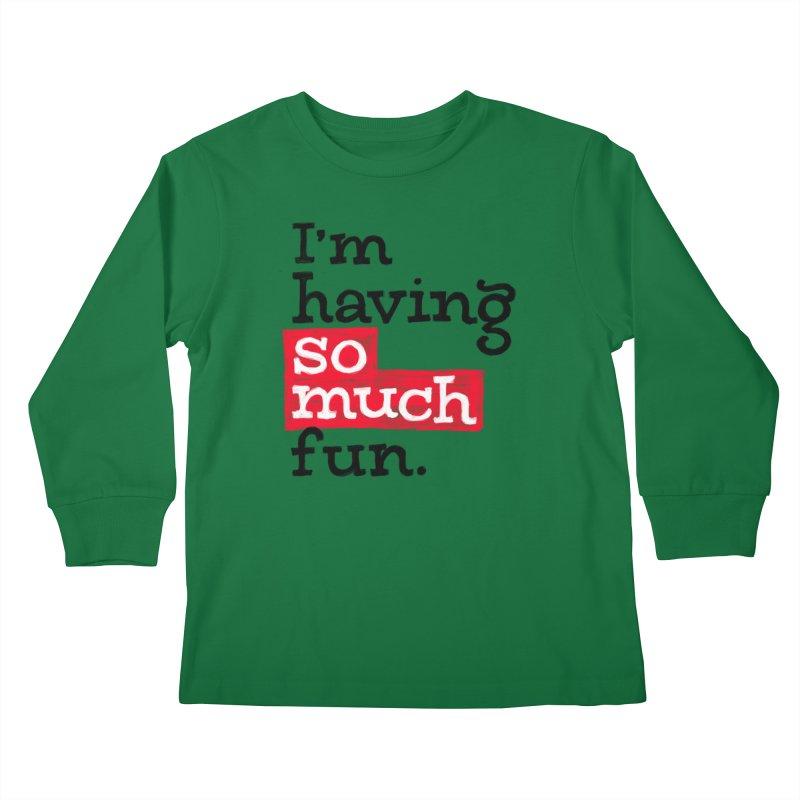What A Blast Kids Longsleeve T-Shirt by dandrawnthreads