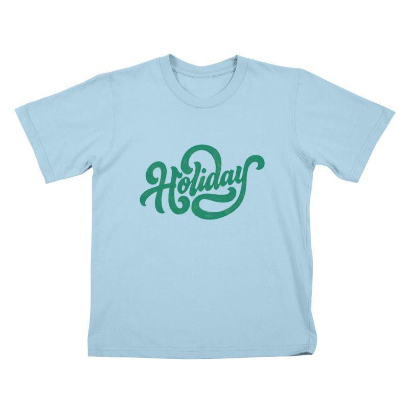 Standard Festivity Uniform Kids T-Shirt by dandrawnthreads