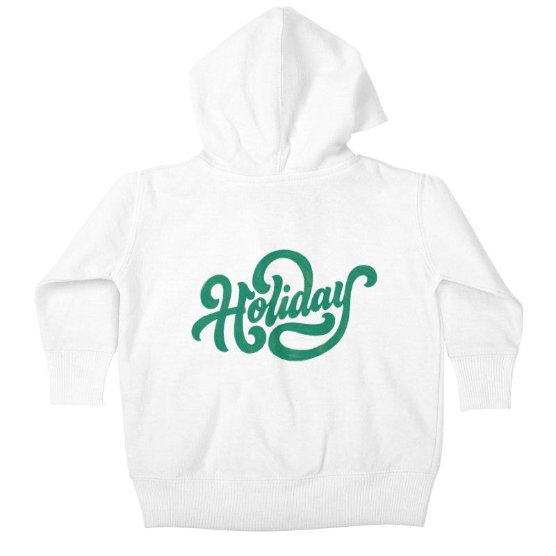 Standard Festivity Uniform Kids Baby Zip-Up Hoody by dandrawnthreads