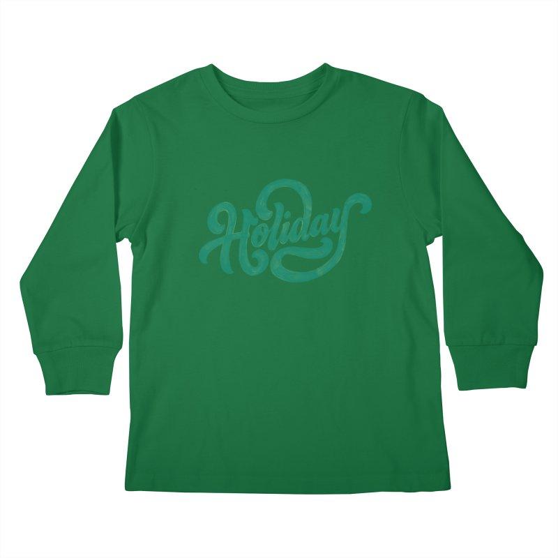 Standard Festivity Uniform Kids Longsleeve T-Shirt by dandrawnthreads