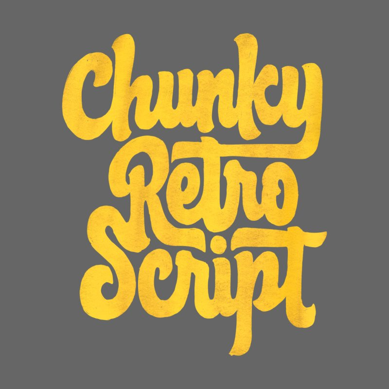 Chunky Retro Script Women's Longsleeve T-Shirt by dandrawnthreads