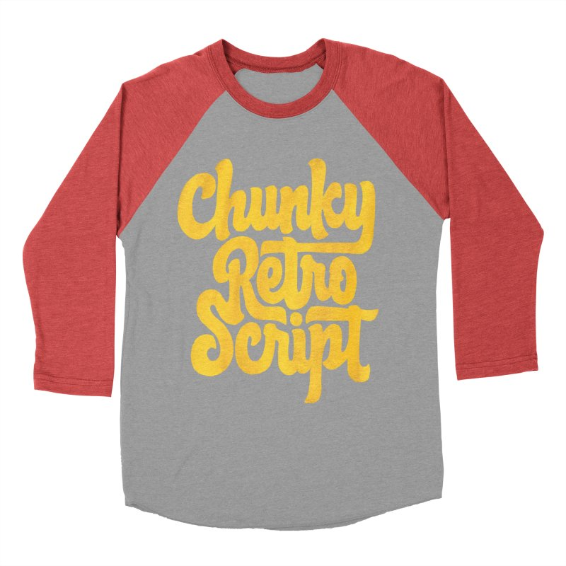 Chunky Retro Script Men's Longsleeve T-Shirt by dandrawnthreads