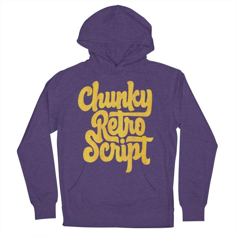 Chunky Retro Script Women's Pullover Hoody by dandrawnthreads