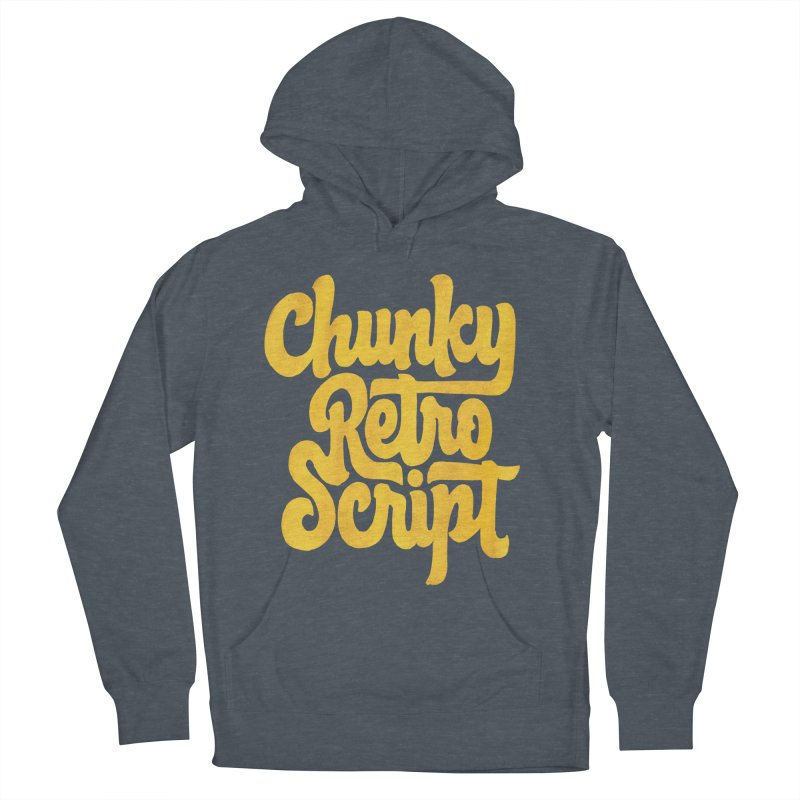 Chunky Retro Script Women's French Terry Pullover Hoody by dandrawnthreads