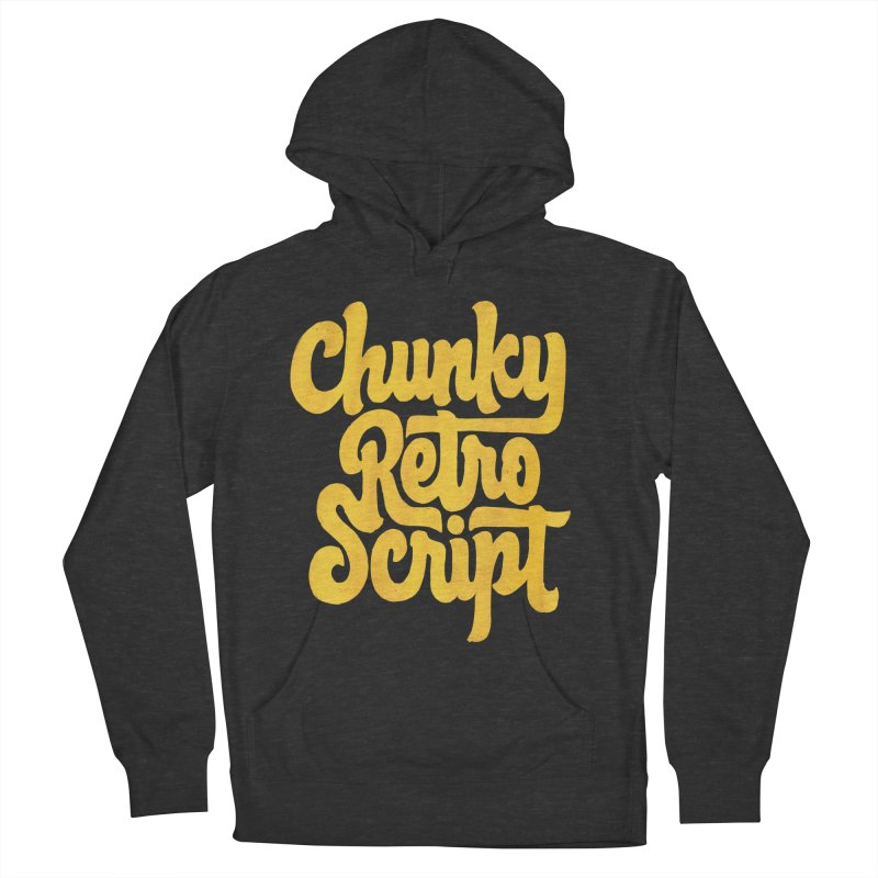 Chunky Retro Script Men's Pullover Hoody by dandrawnthreads