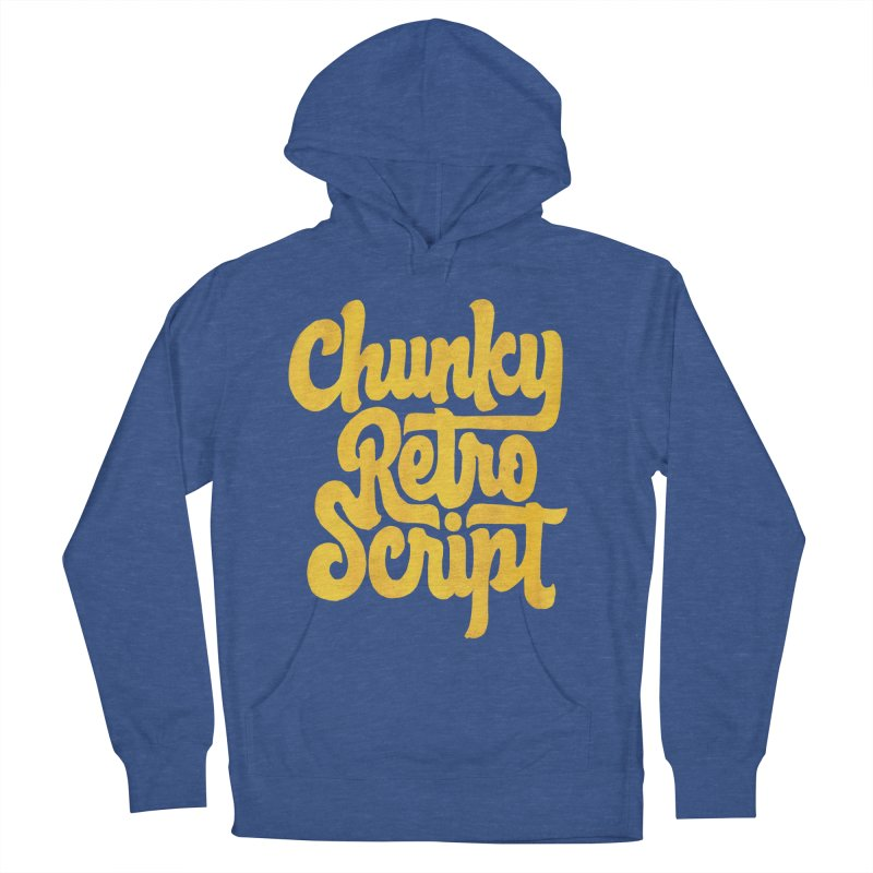 Chunky Retro Script Men's Pullover Hoody by dandrawnthreads