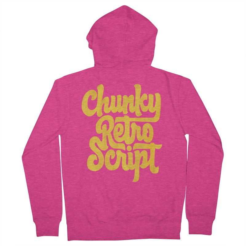 Chunky Retro Script Women's Zip-Up Hoody by dandrawnthreads