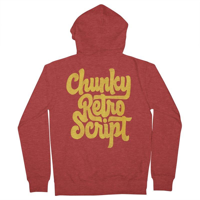 Chunky Retro Script Men's Zip-Up Hoody by dandrawnthreads