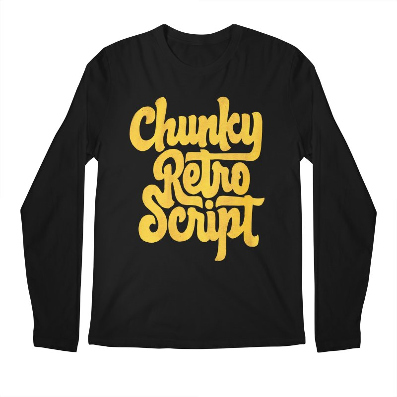 Chunky Retro Script Men's Regular Longsleeve T-Shirt by dandrawnthreads