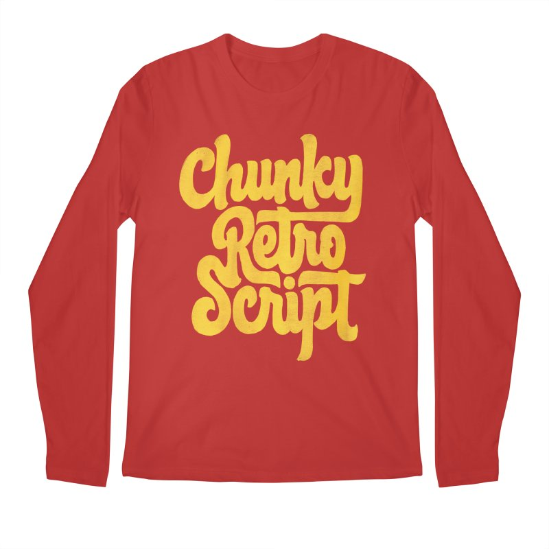Chunky Retro Script Men's Regular Longsleeve T-Shirt by dandrawnthreads