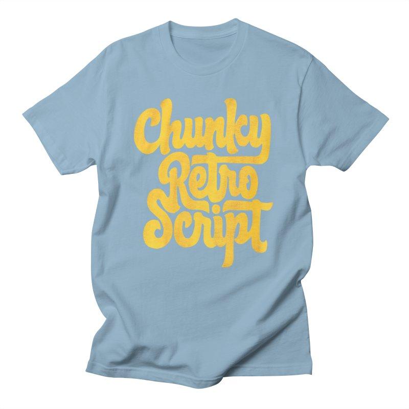 Chunky Retro Script Women's Regular Unisex T-Shirt by dandrawnthreads
