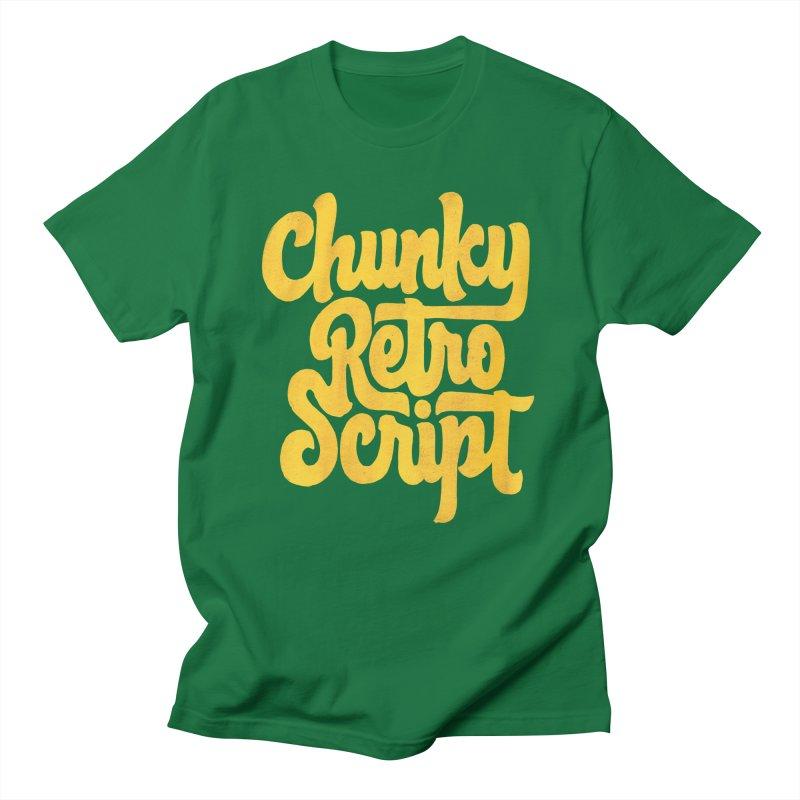 Chunky Retro Script Men's T-Shirt by dandrawnthreads