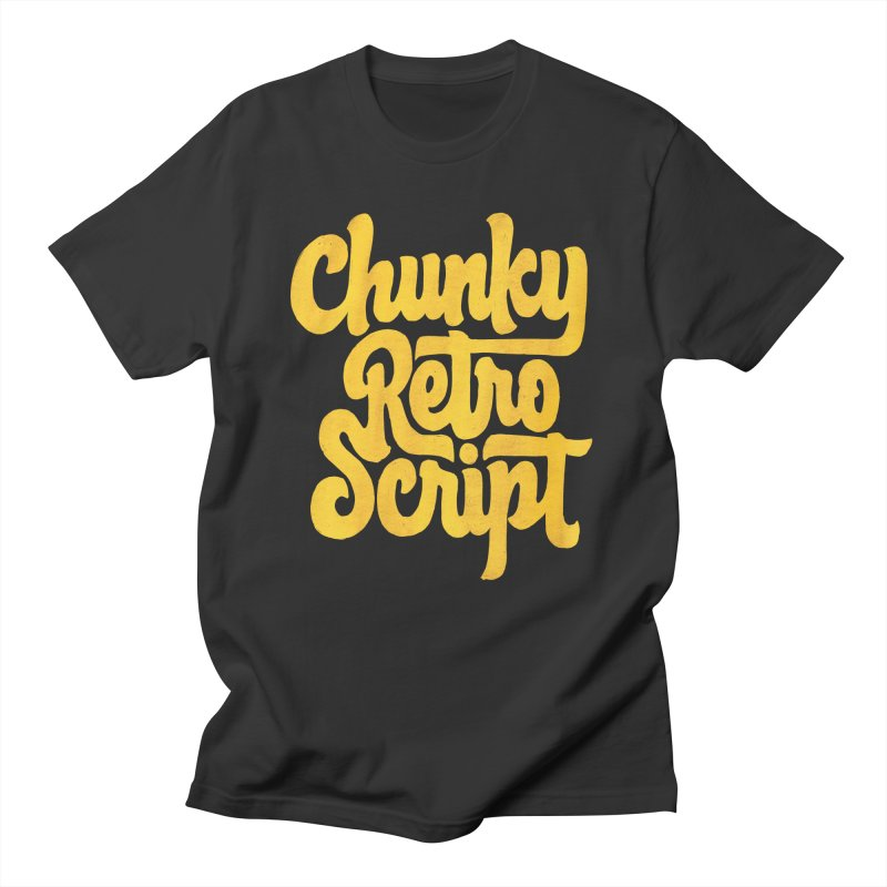 Chunky Retro Script Women's Regular Unisex T-Shirt by dandrawnthreads