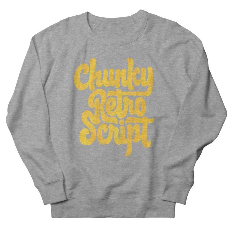 Chunky Retro Script Women's French Terry Sweatshirt by dandrawnthreads